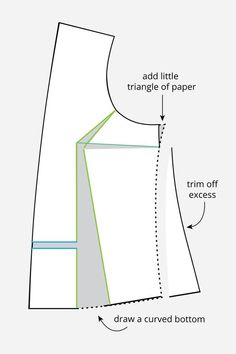 Sewing Techniques Couture full bust adjustment no darts - Today is the second post in a 2 part series on doing full bust adjustments on patterns without any darts. For the first post, we covered a quick and dirty 'cheater' method that works w… Techniques Couture, Sewing Techniques, Sewing Hacks, Sewing Tutorials, Sewing Tips, Sewing Patterns Free, Free Sewing, Formation Couture, Full Bust Adjustment