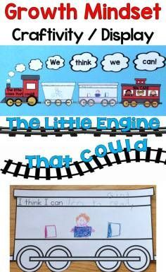 Growth Mindset Craftivity / Class Display based on The Little Engine That Could