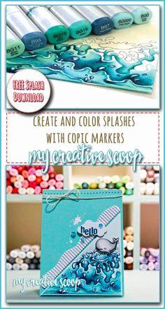 Create and Color Splashes + FREE Splash Printable!