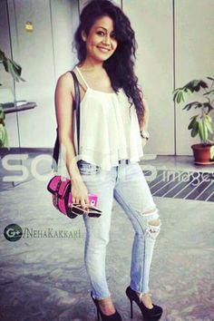 Neha Kakkar Dresses, Famous Singers, Star Girl, Bollywood Fashion, Dimples, Desi, Celebs, Celebrities, Fashion Looks