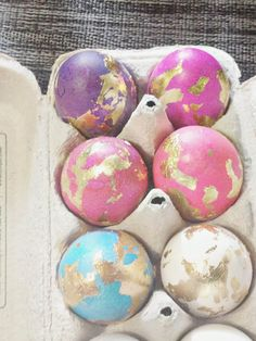 Gold Leafed Easter Eggs.