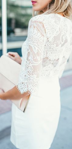 white lace for summer