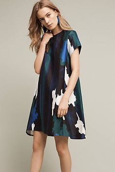 ccc1de43cf540 Anthropologie.com - Abstract Printed Swing Dress Curvy Fashion, Womens  Fashion, Anthropologie,