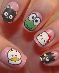 Nail Art Designs are one of the most famous type of artwork among the ladies. Nail art designs are the decoration of nails with beautiful, unique drawings. Funky Nail Art, Colorful Nail Art, Easy Nail Art, Cute Nail Art Designs, Simple Nail Designs, Cute Simple Nails, Pretty Nails, Ongles Hello Kitty, Ongles Funky