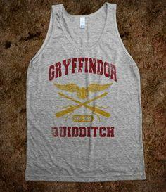 Gryffindor Quidditch Tank Top!