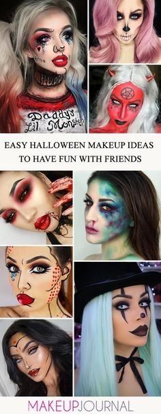 Show off your scary side with our collection of easy Halloween makeup looks. All your friends will be amazed the moment they see you. #makeup #makeuplover #makeupjunkie #halloweenmakeup