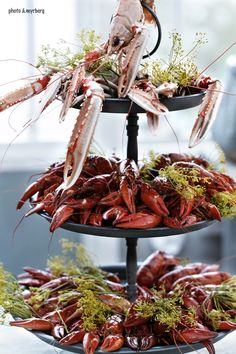 Crayfish Platter #ScanAdventures God Mat, Seafood Party, Low Country Boil, Scandinavian Food, Swedish Recipes, Dinner For Two, Fish Dishes, Love Food, Sweden