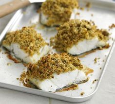 Superb pesto & olive-crusted fish, made with chunky fresh cod fillets. Served this up with wild rice and sugar snaps. Great mid week meal.