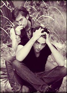 Robert Pattinson & Jackson Rathbone awesome