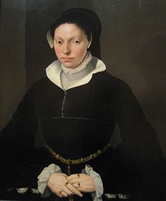 Portrait of a Young Lady by Willem Key - 16th century