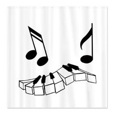 Musical Piano Shower Curtain  $49.50