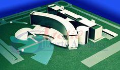 Projeto: Tribunal Superior do Trabalho em Brasília / DF / Brasil - Autor: Arquiteto Oscar Niemeyer - Maquete e foto: Gilberto Antunes - Escala: 1/200