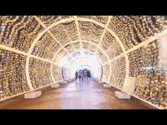 Тверской бульвар световой тоннель - YouTube