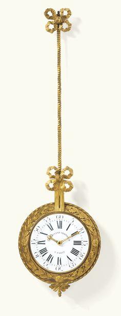 A GILT-BRONZE BRACKET CLOCK, LOUIS XVI, THE DIAL SIGNED FERDINAND BERTHOUD / A PARIS