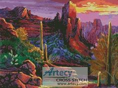 Desert Canyon cross stitch pattern.