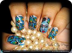 Lord Krishna  - Fashion by Priya Bhattacharrya in My Work...Nail Art...... at touchtalent