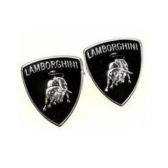 Black #Lamborghini Logo #Cufflinks #cufflinkspalace
