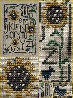 Garden Grumbles and Cross Stitch Fumbles: sunflower