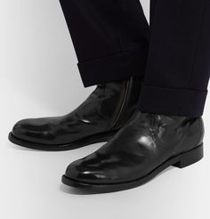Officine Creative Polished-leather Chelsea Boots In Black Joining The Navy, Officine Creative, Leather Chelsea Boots, Oxford Shoes, Dress Shoes, Black Leather, Mens Fashion, Style, Moda Masculina