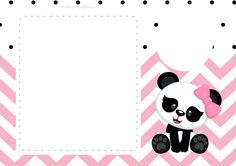 Panda Baby in Pink Chevron Free Printable Invitations. First Birthday Party Decorations, Happy Birthday Signs, Birthday Thank You Cards, Happy Birthday Messages, Happy Birthday Greetings, Free Baby Shower Invitations, Baby Sprinkle Invitations, Printable Baby Shower Invitations, Printable Birthday Invitations