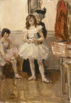 Isaac Israels, Ballerina dressing (1913) Kröller-Müller Museum #collectievissen #dance