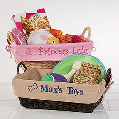 Put together the perfect easter basket for your dog httpwww personalized dog toy baskets tan negle Images