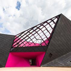 Socio-cultural Center in Mulhouse, France Paul Le Quernec Architect Theater Architecture, Colour Architecture, Amazing Architecture, Architecture Details, Interior Architecture, Memorial Architecture, Parametric Architecture, Origami Architecture, Garden Architecture