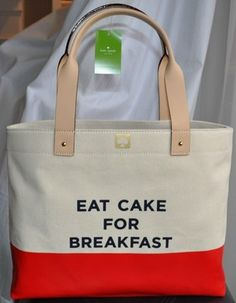 Kate Spade Eat Cake For Breakfast Tote Carryall Bag  - I don't want it but I love it. :)