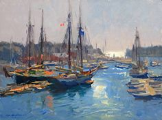 Camden Harbor by Kevin Macpherson  ~ 12 x 16