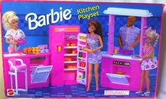 VINTAGE 1992 KITCHEN BARBIE DOLL FURNITURE PRETEND FOOD PLAYSET NEW NRFB