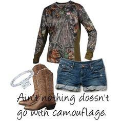 camo underarmour jeans & boots