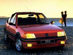 En 1984, soit un an après le lancement de la 205, Peugeot présente la GTi, version sportive devenue mythique. En 1986, la petite lionne se fait décapsuler, la GTi également et devient en cabriolet la 205 CTi.  Comme toute la gamme cabriolet, la CTi est dessinée par Pininfarina qui lui fait une lig