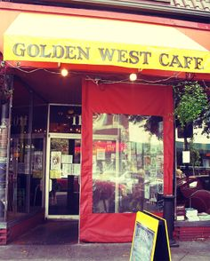 Golden West Cafe in Hampden. Veggie friendly restaurant with music and art events.