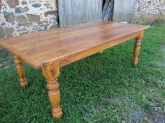 Chestnut farm table