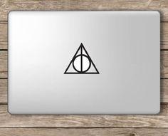 Amazon.com: Deathly Hallows Symbol Harry Potter - Apple Macbook Laptop Vinyl Sticker Decal: Computers & Accessories