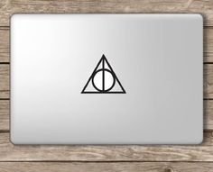Amazon.com: Deathly Hallows Symbol Harry Potter - Apple Macbook Laptop Vinyl Sticker Decal: Computers