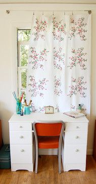 tablecloth for curtain   Shabby Chic Curtain Design Ideas, Pictures, Remodel, and Decor
