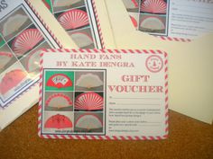 Hand Fans by Kate Dengra CHRISTMAS GIFT VOUCHER by DengraDesigns