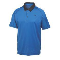 Puma Titan Tour Mens Golf Polo Strong Blue