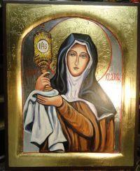 Znalezione obrazy dla zapytania ikona świętej klary