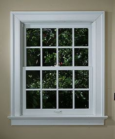 Traditional Stool & Apron Window Casing: This is about exactly what I want Window Ledge, Window Frames, Window Ideas, Window Sill, Exterior House Colors, Exterior Doors, House Windows, Windows And Doors, Trim For Windows