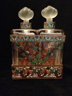 French Champleve Perfume Bottle Set | eBay