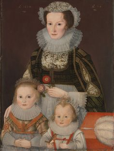 A Lady and Her Two Children  Date 	1624