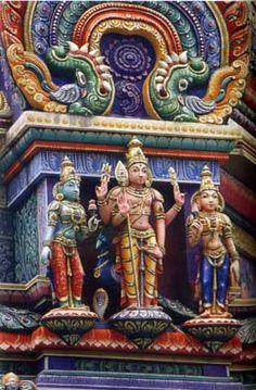 Hindu Temple on Silom road in Bangkok, Thailand