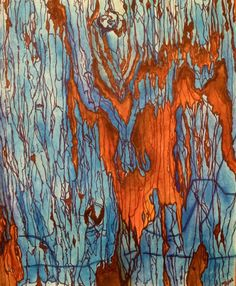 Old Blue Original Signed Watercolor and Ink by justforfunbyjodi, $50.00