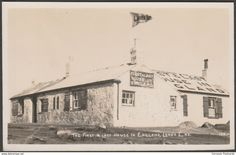 The First and Last House, Land's End, Cornwall, 1946 - First & Last House RP Postcard