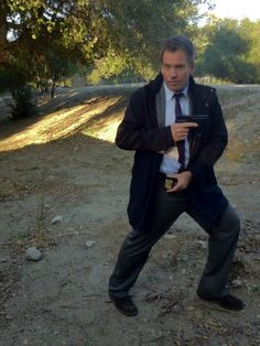 Michael Weatherly on set. From his twitter page.