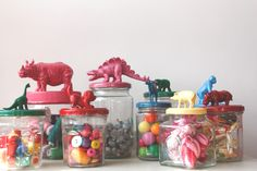 Zoo's Who Storage Jars for childrens' toys from Sisters Guild: Monday Makery