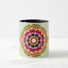 ALEXA  Personalized Gem Stones Fractal  Mug - home gifts ideas decor special unique custom individual customized individualized