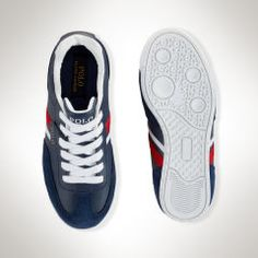 Leather Rival Sneaker - Little Kid Little Kid 10.5 - 3 - RalphLauren.com
